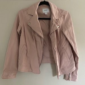 EUC light pink moto jacket from Old Navy